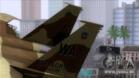 F-15C Camouflage Pack pour GTA San Andreas sur la vue arrière gauche