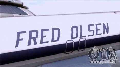 L-188 Electra Fled Olsen pour GTA San Andreas vue de droite