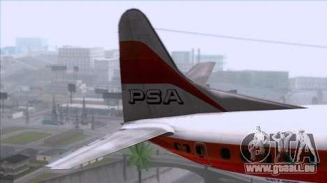 L-188 Electra PSA pour GTA San Andreas sur la vue arrière gauche