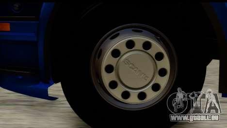 Scania G 4х6 für GTA San Andreas Rückansicht