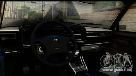 VAZ 21074 pour GTA San Andreas vue intérieure