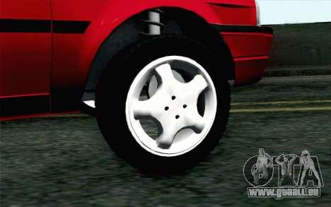 Dacia SuperNova pour GTA San Andreas sur la vue arrière gauche