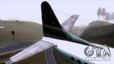 L-188 Electra Air New Zealand pour GTA San Andreas sur la vue arrière gauche