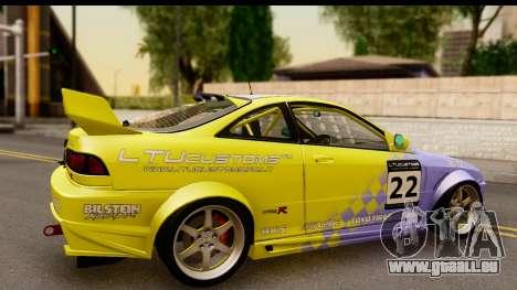 Acura Integra Type R 2001 pour GTA San Andreas vue arrière
