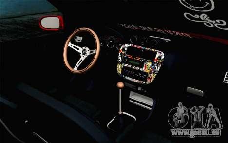 Honda Civic DRY Garage für GTA San Andreas rechten Ansicht