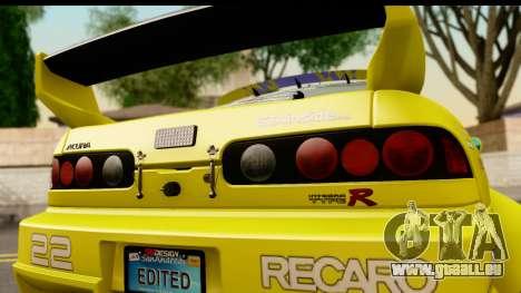 Acura Integra Type R 2001 pour GTA San Andreas vue de droite