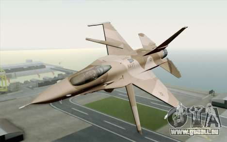 F-16C Fighting Falcon NSAWC Brown pour GTA San Andreas
