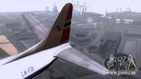L-188 Electra Fled Olsen pour GTA San Andreas vue arrière