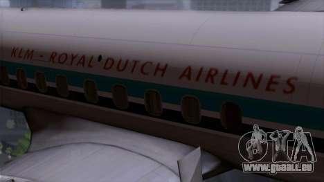 L-188 Electra KLM v1 pour GTA San Andreas vue arrière