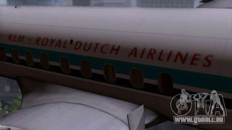 L-188 Electra KLM v1 für GTA San Andreas Rückansicht