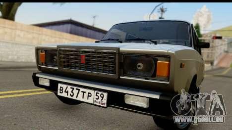 VAZ 21074 pour GTA San Andreas sur la vue arrière gauche