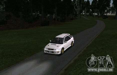 Subaru Impreza Sports Wagon WRX STI pour GTA San Andreas vue arrière
