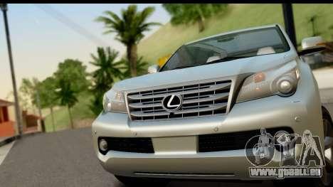 Lexus GX460 pour GTA San Andreas sur la vue arrière gauche