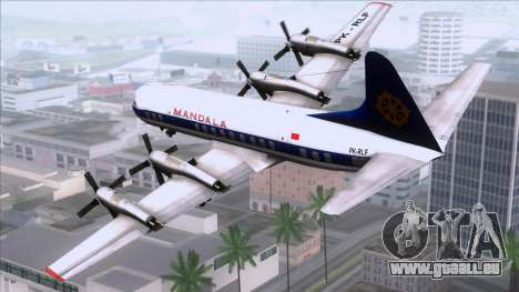 L-188 Electra Mandala Airlines für GTA San Andreas linke Ansicht