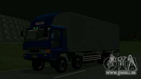 Mitsubishi Fuso The Great für GTA San Andreas Rückansicht