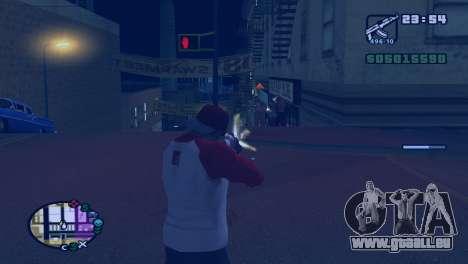 Ralentir le temps pendant la prise de vue dans G pour GTA San Andreas deuxième écran