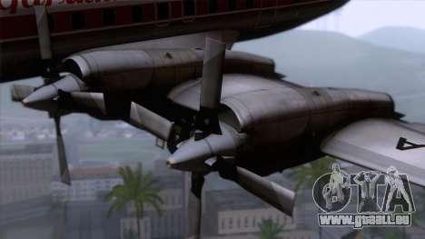 L-188 Electra Garuda Indonesia pour GTA San Andreas vue arrière