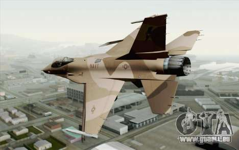 F-16C Fighting Falcon NSAWC Brown pour GTA San Andreas laissé vue
