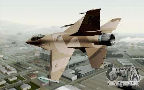 F-16C Fighting Falcon NSAWC Brown für GTA San Andreas linke Ansicht