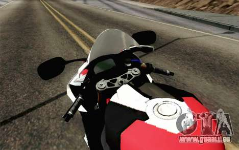 BMW S1000RR HP4 v2 Red für GTA San Andreas rechten Ansicht