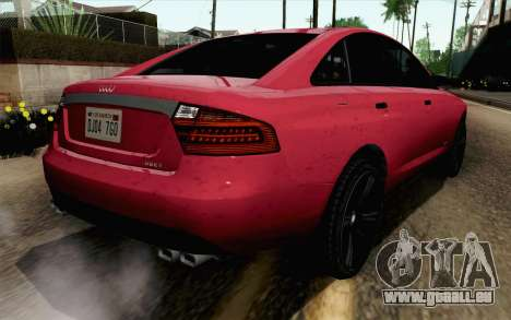 GTA 5 Obey Tailgater v2 SA Style für GTA San Andreas linke Ansicht