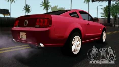 Ford Mustang GT PJ Wheels 2 pour GTA San Andreas laissé vue