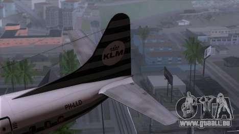L-188 Electra KLM v2 pour GTA San Andreas sur la vue arrière gauche