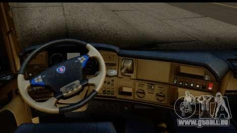 Scania G 4х6 für GTA San Andreas Innenansicht