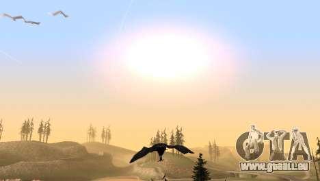 La possibilité de jouer pour les oiseaux v2 pour GTA San Andreas sixième écran