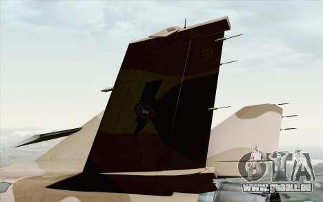 F-16C Fighting Falcon NSAWC Brown für GTA San Andreas zurück linke Ansicht