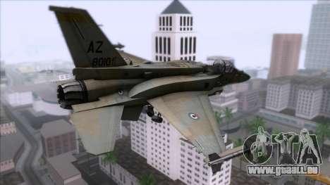 F-16F Fighting Falcon United Arab Emirates pour GTA San Andreas laissé vue
