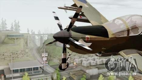 Embraer A-29B Super Tucano RAF für GTA San Andreas Rückansicht