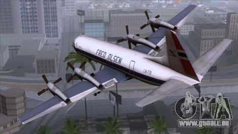 L-188 Electra Fled Olsen pour GTA San Andreas laissé vue