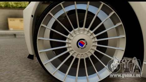 BMW M5 F10 pour GTA San Andreas vue arrière