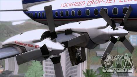Lockheed L-188 Electra für GTA San Andreas rechten Ansicht