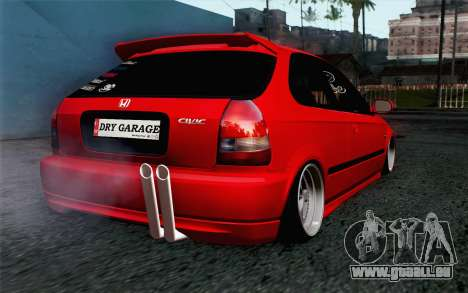 Honda Civic DRY Garage für GTA San Andreas linke Ansicht