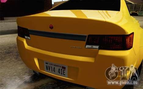 GTA 5 Cheval Fugitif FIV АПП pour GTA San Andreas vue arrière