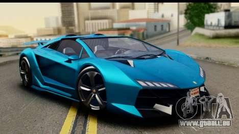 GTA 5 Zentorno Cabrio für GTA San Andreas