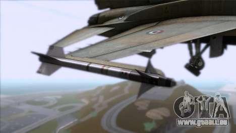 F-16F Fighting Falcon United Arab Emirates pour GTA San Andreas vue de droite