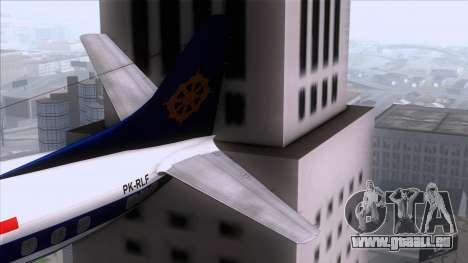 L-188 Electra Mandala Airlines für GTA San Andreas zurück linke Ansicht