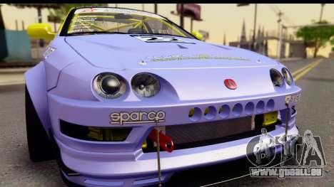 Acura Integra Type R 2001 für GTA San Andreas zurück linke Ansicht
