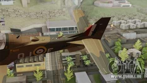 Embraer A-29B Super Tucano RAF für GTA San Andreas zurück linke Ansicht