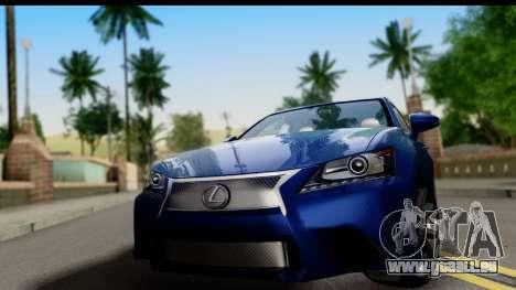 Lexus GS350 pour GTA San Andreas sur la vue arrière gauche