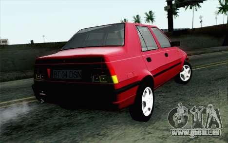 Dacia SuperNova pour GTA San Andreas laissé vue