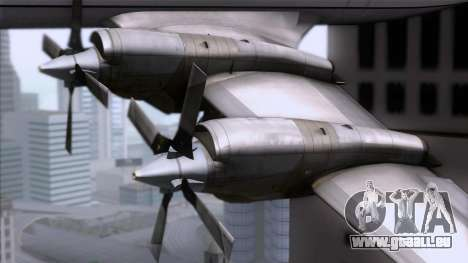 L-188 Electra Mandala Airlines für GTA San Andreas rechten Ansicht