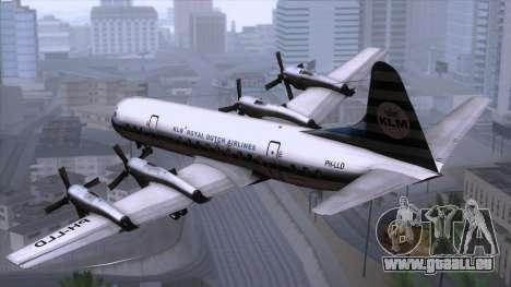 L-188 Electra KLM v2 pour GTA San Andreas laissé vue