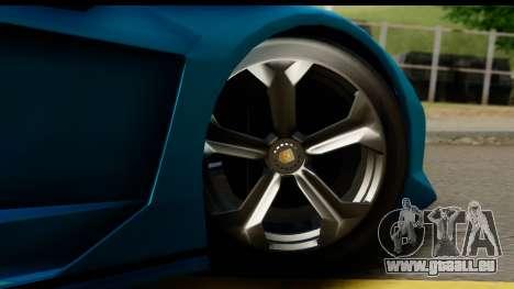 GTA 5 Zentorno Cabrio für GTA San Andreas Rückansicht