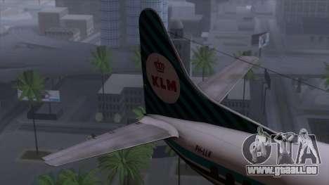L-188 Electra KLM v1 pour GTA San Andreas sur la vue arrière gauche