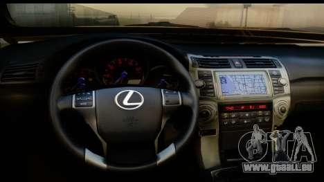 Lexus GX460 pour GTA San Andreas vue intérieure