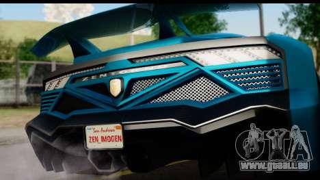 GTA 5 Zentorno Cabrio für GTA San Andreas rechten Ansicht